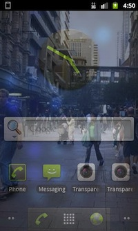 Ecran Transparent sous Android