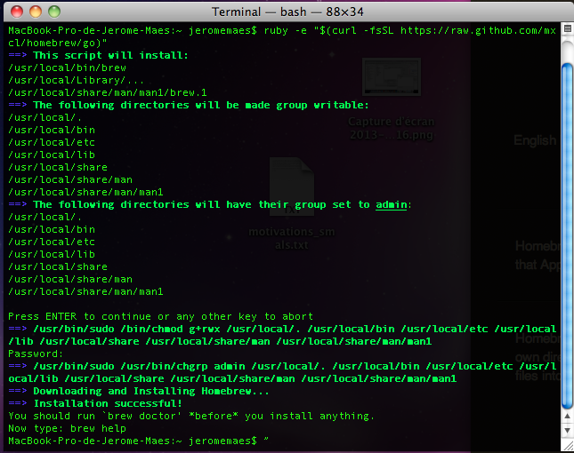 Installing Ruby on Rails on Mac OS X